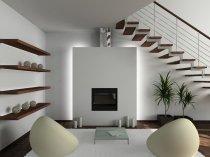 фото вітальні в сучасному стилі