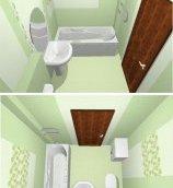 план маленької ванної кімнати